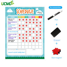 40x30cm Kids Magnetic Dry Erase Schedule Board Magnetic Calendar Weekly Planner Whiteboard for Refrigerator Home Kichen Office