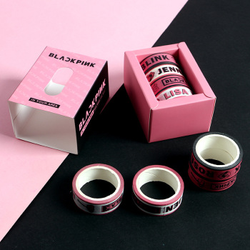 [MYKPOP]BLACKPINK Adhesive Tape Set 4 Rolls Jisoo Jennie Rose Lisa Paper Masking DIY Diary Book Scrapbook Sticker SA20070601