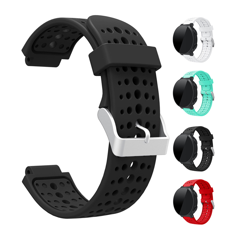 Silicone Watch Strap For Garmin Forerunner 220 230 235 620 630 735xt Replacement Band Wrist Strap Bracelet  Soft Sport Watchband