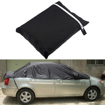 Universal Car Cover Sun UV Snow Dust Rain Resistant Half Covers 3 Sizes Car Protector Car Accessories car covers size s m l xl waterproof full car cover sun uv snow dust rain resistant protection gray free shipping