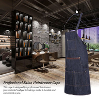 Pro Salon Barber Cape Jean Apron Hair Cutting Cloth Hairdresser Gown Unisex Hair Dyeing Cape Hair Styling Tool
