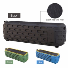 Portable Wireless Bluetooth Speaker Waterproof Solar Bluetooth Speaker with LED light and Mic Compatible for iPhone Smart Device