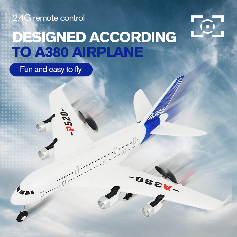 Hot gyro airplane Airbus A380 airplane toys 2.4G RC airplane Fixed Wing Plane Outdoor toys Drone P520 RC plane toys
