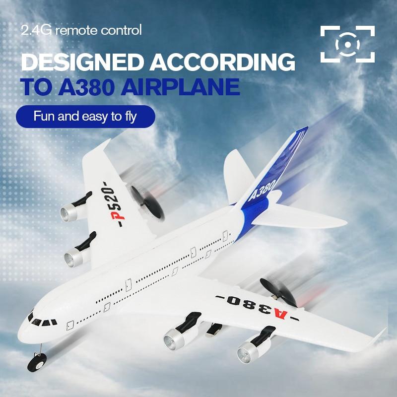 Лидер продаж, самолет с гироскопом, самолёт Аэробус A380, игрушки на радиоуправлении 2,4 г, самолет с неподвижным крылом, уличные игрушки, Дрон ...