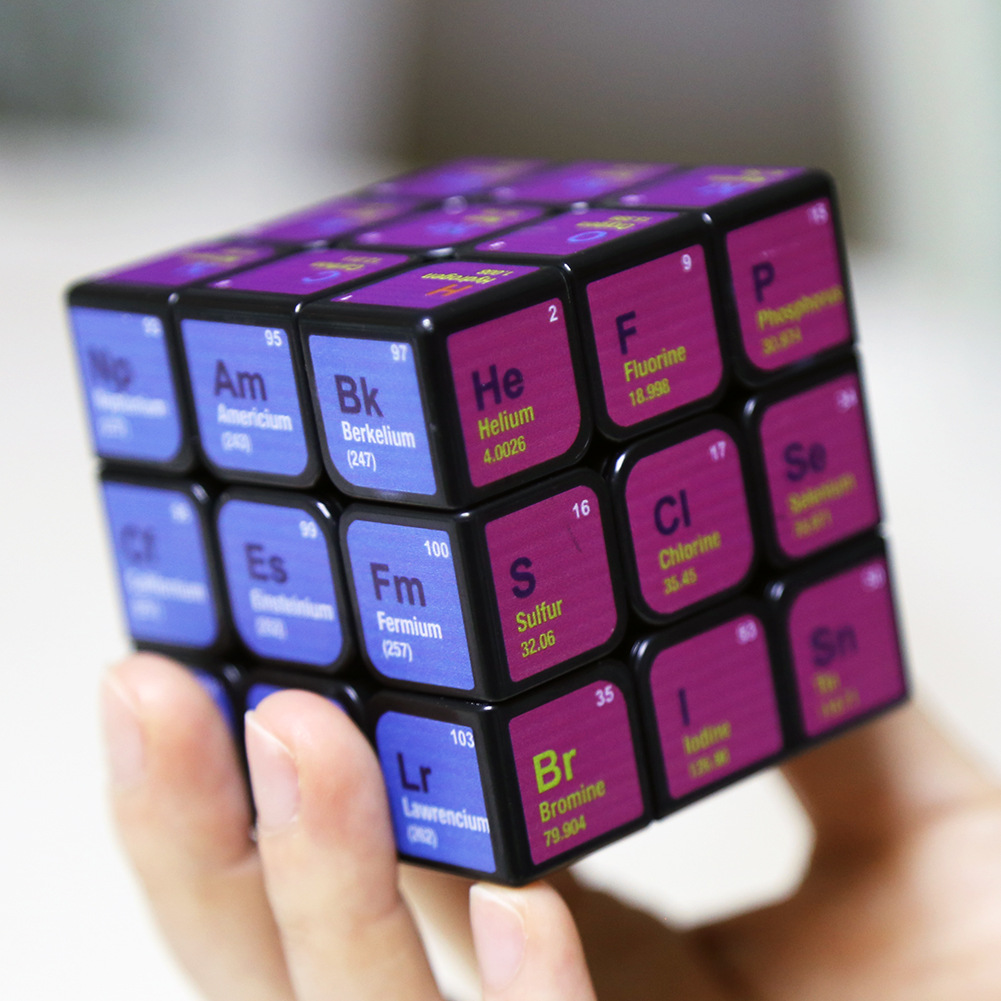 Hot Third-order Chemical Rubik's Cube Periodic Table Learning Tool Colorful Cube Educational Toys Children Gifts Birthday Gift