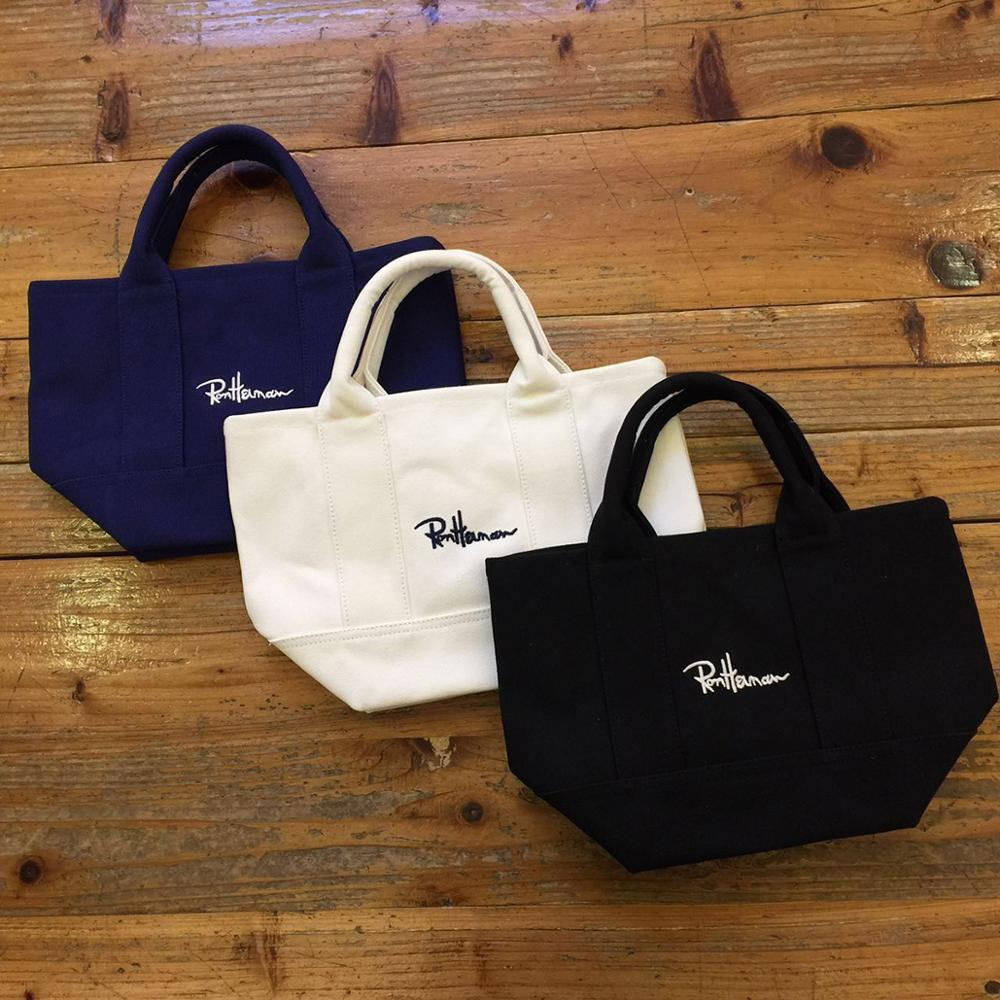 Japan's New Ron Herman Canvas Bag Handbag Joker Contracted One Shoulder Students Handheld Shopping Bag Car Storage Box