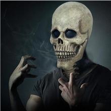 2019 Halloween Popular Horror Skull Mask Latex Adult Uniform Code Tricky Spoof Prop