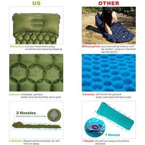 Коврик для сна, коврик для кемпинга с подушкой, воздушный матрас, надувная подушка для пикника, коврик для сна, быстро наполненный, влагостой...
