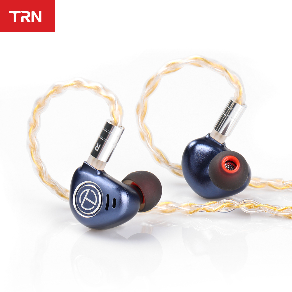 TRN V90 8 Core TC Kopfhörer Kabel 4BA + 1DD Metall Headset Hybrid Einheiten HIFI Bass Ohrhörer Monitor Kopfhörer Lärm cancelling TRN