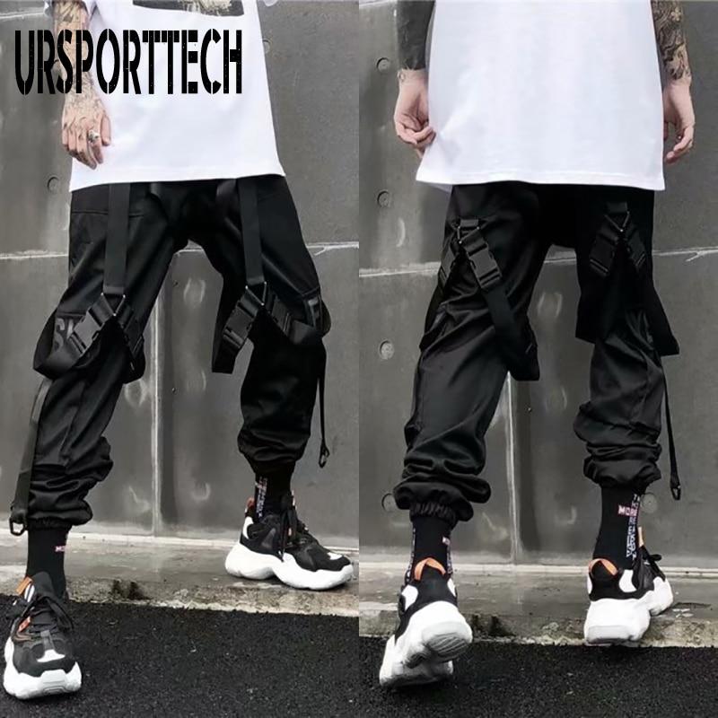 New Streetwear Men's Multi Pockets Cargo Harem Pants Hip Hop Casual Male Track Pants Joggers Trousers Fashion Harajuku Men Pants