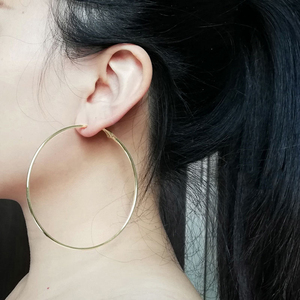 80mm Super Big Hoop Earrings Round Female Ear Rings Silver Color Large Circle Creole Earring Huggies Personality Fashion Jewelry(China)