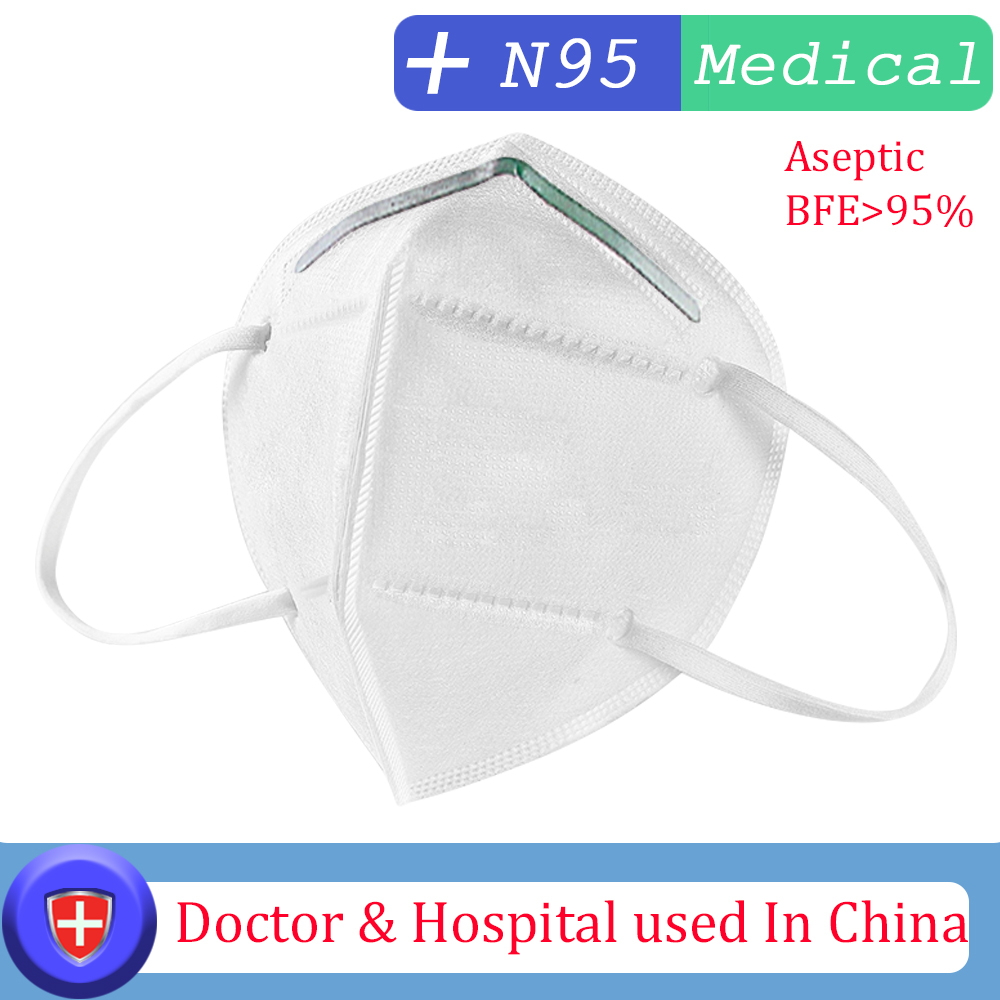 N95 3 Layer Surgical Mask Virus protection Medical Disposable  Face Masks Elastic Ear Loop Disposable Dust Filter Safety Mask  -