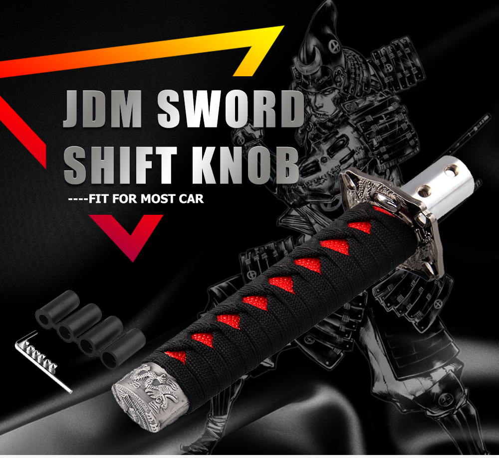 Universal JDM Samurai Sword Shift Knob Shifter Katana Metal Weighted Sport With 12mm Hole SK095(China)