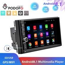 """Podofo 2din Android8.1 Phát Thanh Xe Hơi WIFI GPS Navi Máy Nghe Nhạc Đa Phương Tiện Đa Năng 7 """"Âm Thanh Stereo Xe Volkswagen Nissan Hyundai xe Kia"""