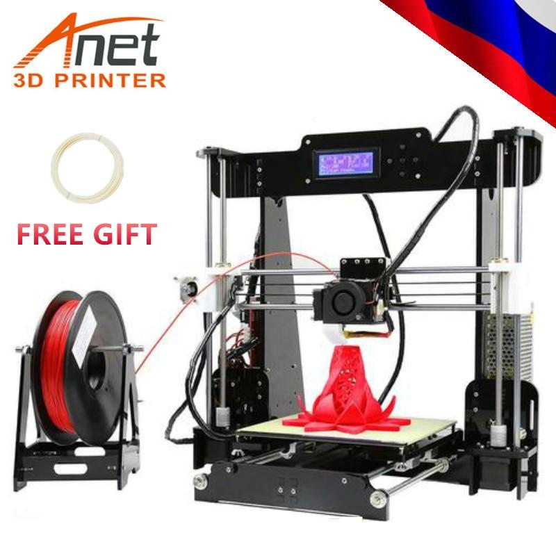 ANET A8 A8L Pro 3D drucker Hohe präzision A8L mit auto bett nivellierung DIY Impresora 3D drucker Metall Desktop verschiffen von Russland