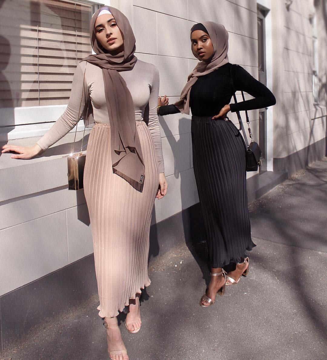 女性イスラム教徒鉛筆ロングスカートシフォンプリーツスカート弾性スカートハイウエストアラブ首長国連邦イスラムアフリカ服パーティーマキシスカート