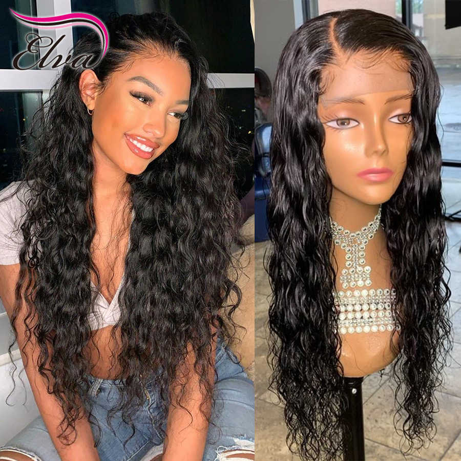 360 Lace Frontal Wigs For Black Women Elva Hair Pre Plucked Hairline With Baby Hair Natural Wave 360 Frontal Lace Wigs Remy Hair Pre Aliexpress
