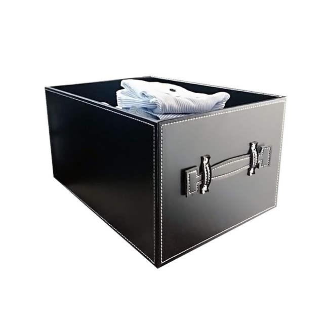 Leather Wardrobe Storage Box Receiving