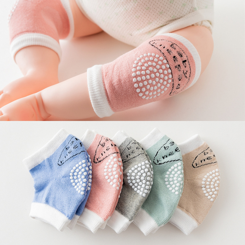 Babys Non-slip Baby Kneecap Summer Children's Cotton Knee Pad Baby Crawling Knee Protection Terry Thick Mesh 0-24 Months