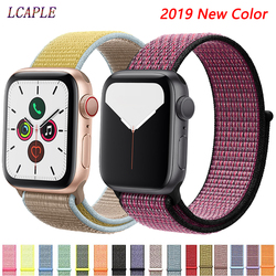 Nylon Strap Für apple watch 4 5 Band Correa apple watch 42mm 38 mm 44mm 40mm iwatch sreies 4 3 pulseira armband armband gürtel