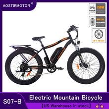 AOSTIRMOTOR Electric Bike Fat Tire Bicycle Beach Cruiser City Bike Mountain Bike 750W EBike 48V 13Ah Lithium Battery