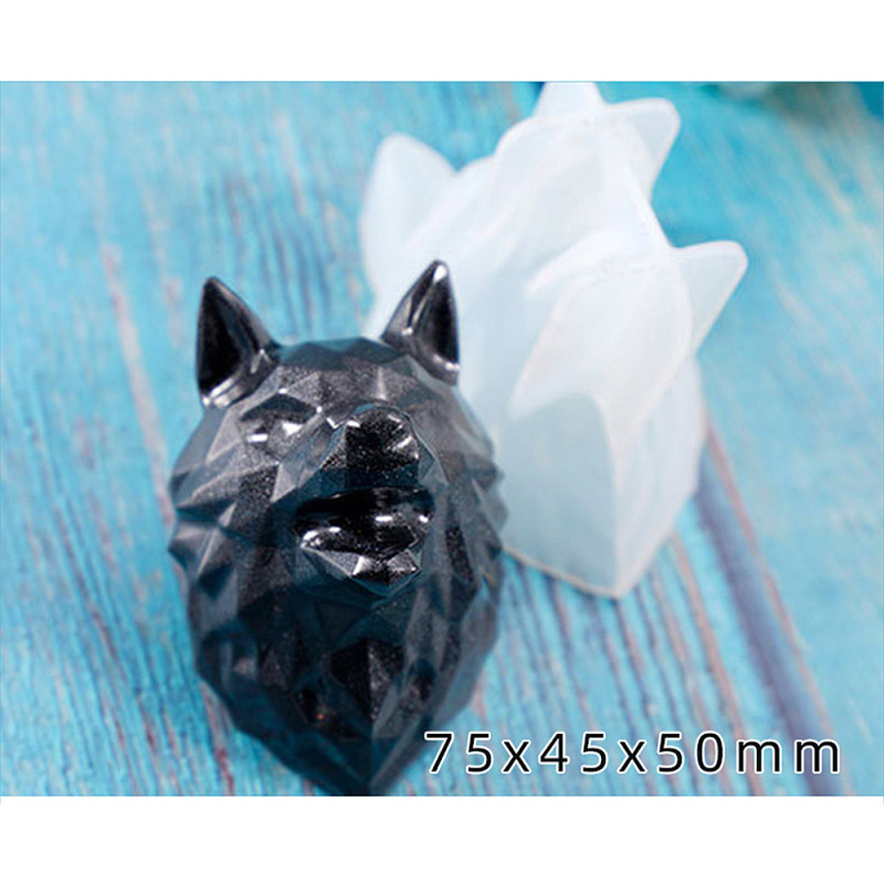 Animal Shape Silicone Mold DIY Stereo Mirror Modeling Keychain Ornaments DIY Craft Jewelry Making Supplies