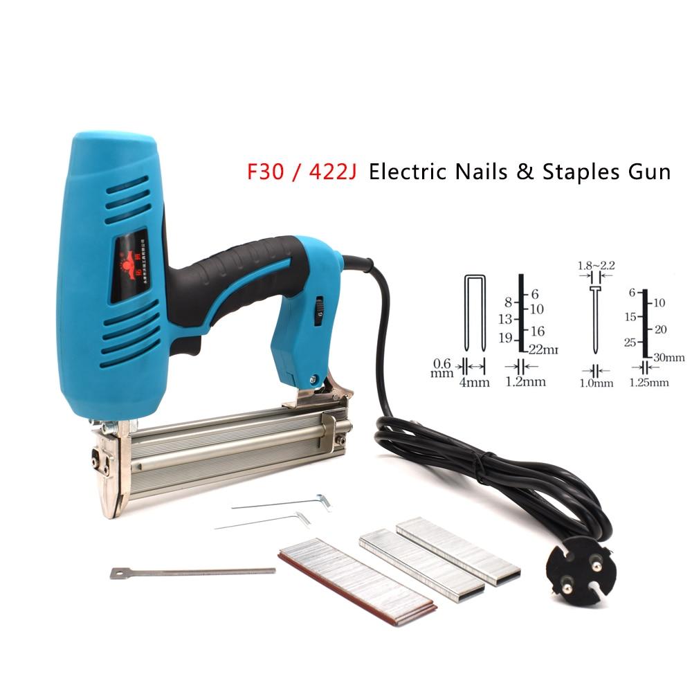 F30/422J Framing Tacker Electric Mails Staple Gun 220V Electric Power Tools U Shaped Straight Nails Gun