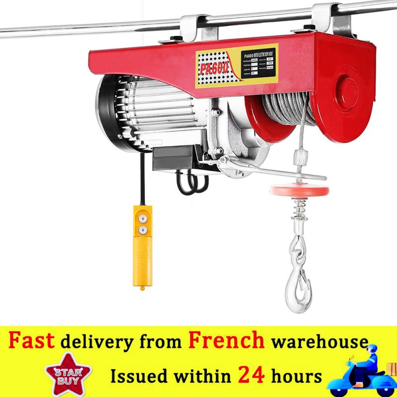 Electric Hoist Lifting Cable Hoist Lifting Wire Hanging Crane Material Handling Tools Lifting Cranes for Boat Car Wound Load HWC