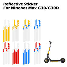 Elektrische Scooter Skateboard Reflecterende Stickers Voor Ninebot Max G30 Elektrische Scooter Skateboard Accessoires Reflecterende Stickers(China)
