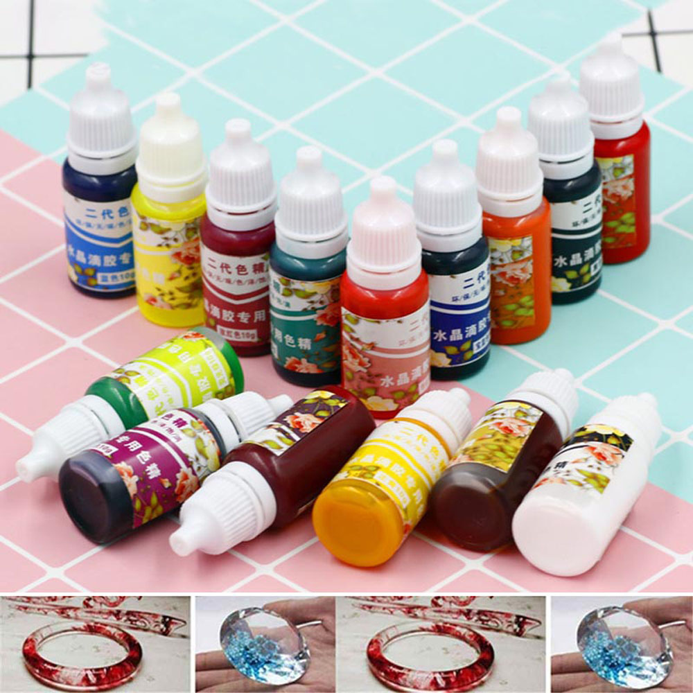 15 Colors 10 ML Epoxy Resin Pigment UV Resin Coloring Dye Colorant Resin Pigment DIY Handmade Crafts Art Jewelry Tools Accessory