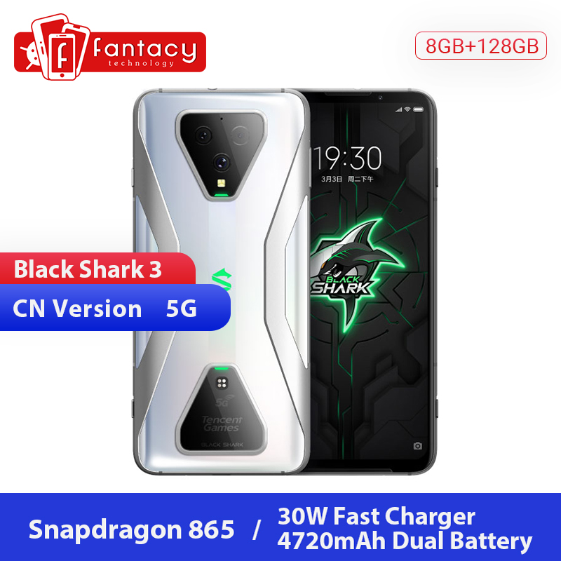 New Xiaomi Black Shark 3 5G Snapdragon 865 8GB 128GB Game Phone Octa Core 6.67'' AMOLED 64MP AI Triple Cameras 30W Charge UFS3.0|Cellphones| |  -