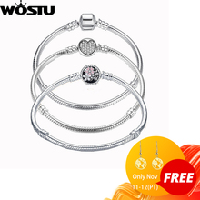 Acheter 4 pièces économiser plus 5% luxe 100% 925 Bracelet à breloques en argent Sterling Original coeur perles chaîne idéal pour Bracelet & Bracelet pour lamour