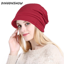 [DINGDNSHOW] Brand Beanies Hat Adult Cotton Winter Cap Women 2019 Knitted Warm Skullies Ladies