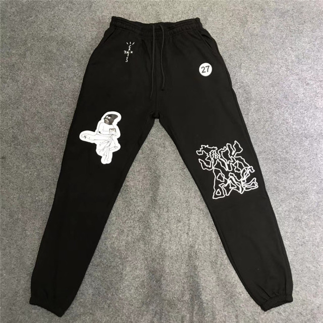 Travis Scott Cactus Jack masque sur pantalons de survêtement femmes hommes 11 haute qualité ASTROWORLD pantalon cordon Joggers pantalon