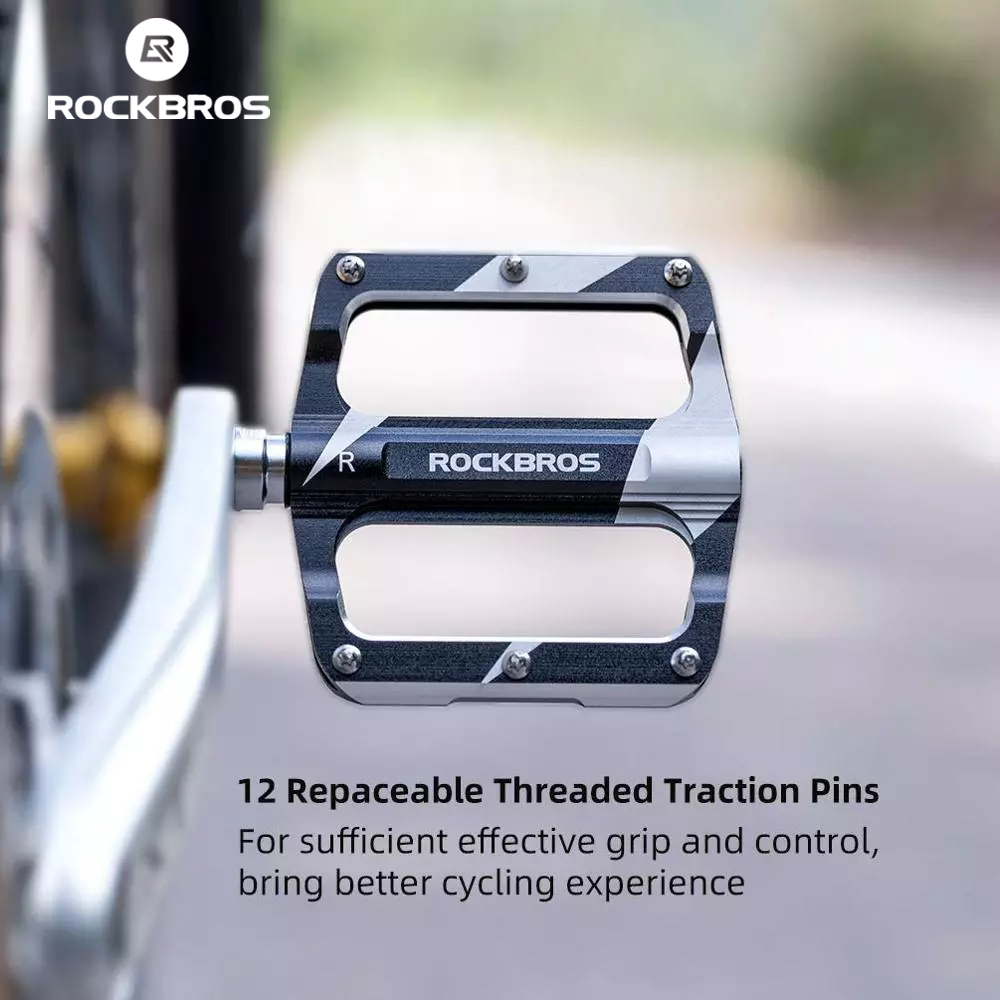 ROCKBROS Bicycle Cycling Road Mountain Bike Pedals Carbon Fiber Sealed Bearings