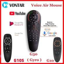 G10 G10S G30 Google Voice Дистанционное Управление гироскопа зондирования ИК-обучения Мини 2,4G беспроводная мышь с клавиатурой для X96 MAX H96 X3 коробка