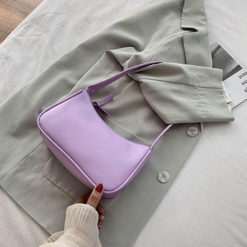 Ретро сумка через плечо винтажная Дамская Сумочка Хобо Сумка для женщин PU кожаная женская сумка багет Subaxillary Mini Bolsa Feminina 2020|Сумки с ручками|   | АлиЭкспресс
