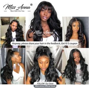 MissAnna Brazilian Human Hair Weave Bundles Body Wave 8- 32 36 40 Inch Natural Color 1/3/4PCS 100% Remy Human Hair Weave Bundles