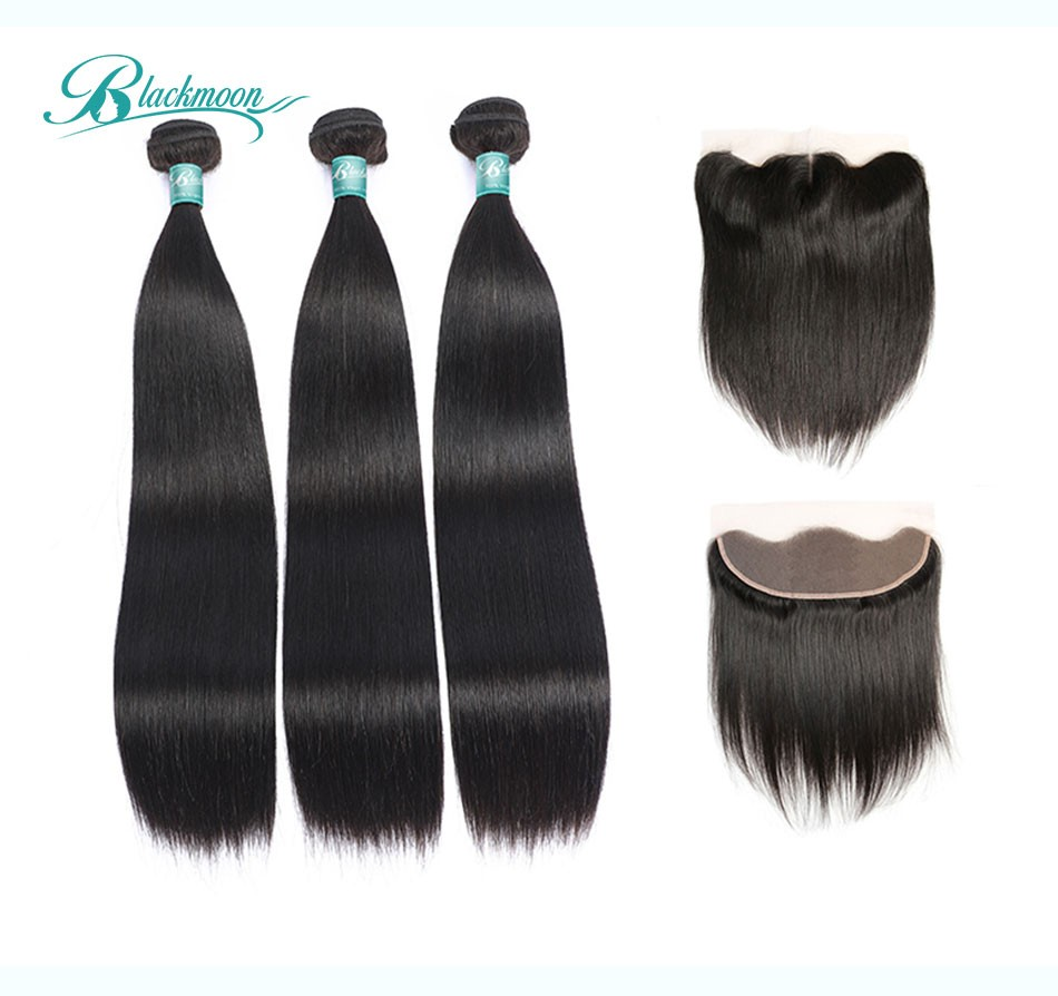straight hair bundles with frontal3+13_02