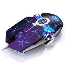 Mouse de computador com fio, mouse para jogos, com 6 botões 3200dpi led optical usb para pc laptop gamer,