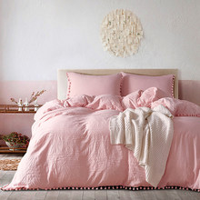 Yimeis Duvets And Linen sets Solid Queen Size Bed Sheets Set Comfortable Twin Size Bedding BE47025(China)