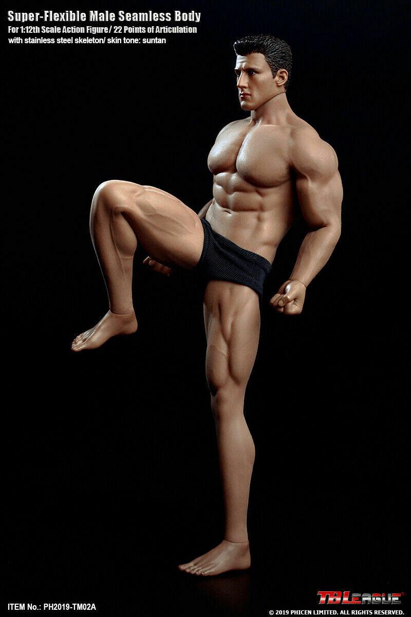 1//12 TBLeague TM02A Strong Muscle Body Seamless Flexible Model W// Head Figure