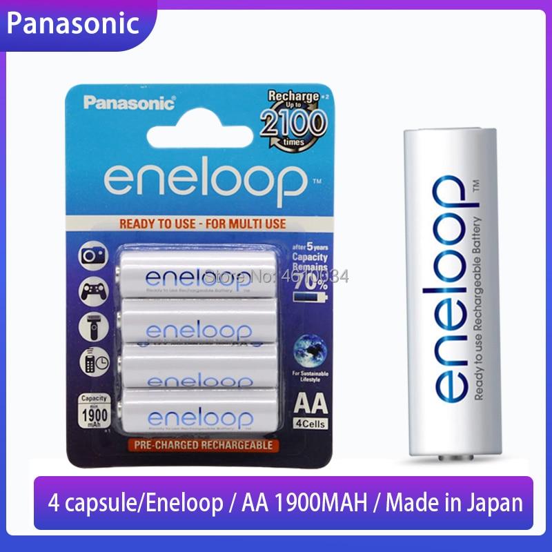 4pcs Eneloop Panasonic 100% Original AA Rechargeable Battery 1.2v 1900mAh Pre-charged Ni-MH Batteries For Camera Flashlight Toys