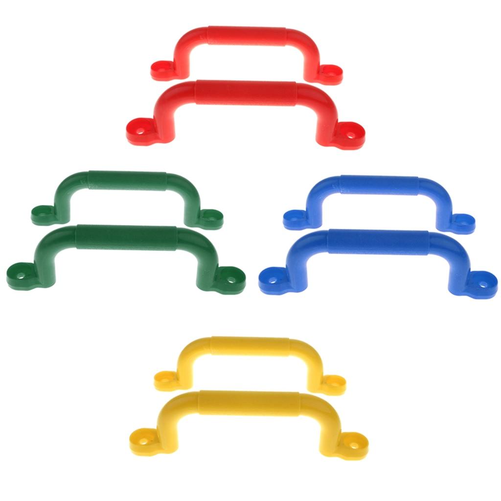 1 Pair Nonslip Handle Mounting Hardware Kits Climbing Frame Toy For Kids Children Playground Safety