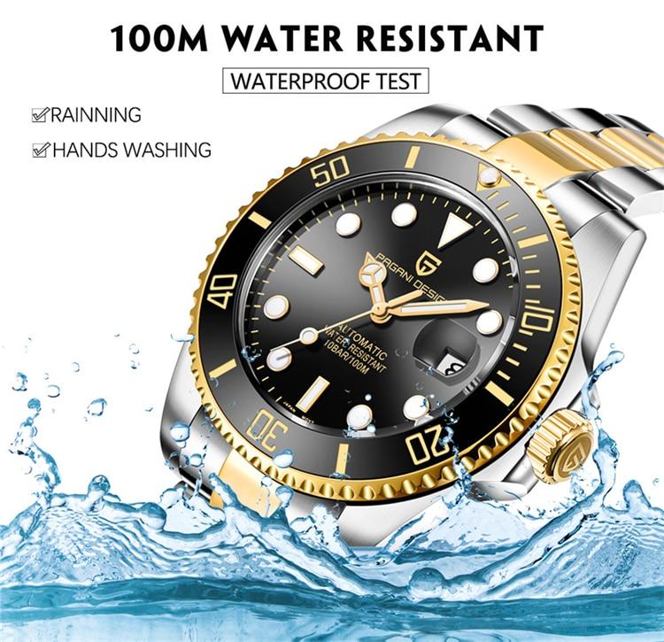 H7ec7daf6516b4f0c82fcef0dd4cee836h PAGANI Design Brand Luxury Men Watches Automatic Black Watch Men Stainless Steel Waterproof Business Sport Mechanical Wristwatch