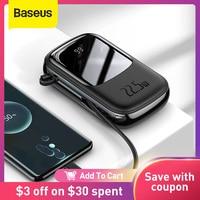 Baseus-Banco de energía de 20000mAh PD, cargador portátil de carga rápida, paquete de batería externa para teléfono