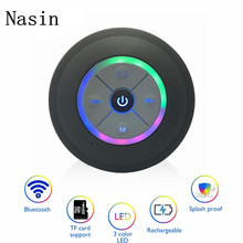 цена на Nasin Portable Subwoofer Waterproof Shower Bluetooth Speaker Wireless Car Hands-free Call Music Suction Microphone for iphone