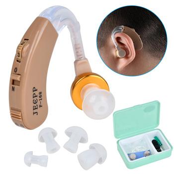 JECPP aparaty słuchowe wzmacniacz dźwięku aparaty słuchowe wzmocnienie urządzenie z etui do przechowywania szczotka do czyszczenia śrubokręt tanie i dobre opinie Hearing Aids