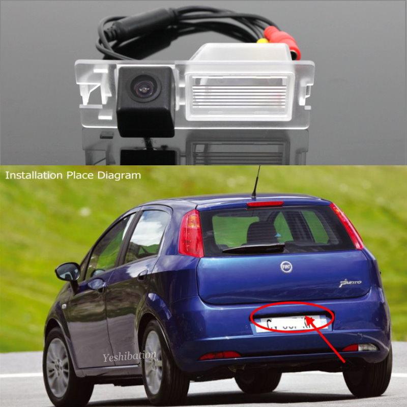 Car Parking Camera For Fiat Grande Punto Fiat Punto Evo Fiat Avventura 3D 5D Hatchback / Rear View Camera / License Plate Camera