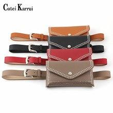 Catei Karrui Genuine Leather Belts For Belt Pin Studded